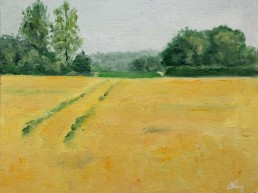 Dutch landscape oil painting